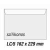 SilverBall Boríték LC5 szilikon BÉLÉSNYOMATLAN 162x229mm SilverBall <500db/dob>