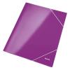 Leitz Gumis mappa -39820062- lakkfényű, karton A/4 Lila LEITZ