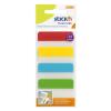 Stick'n Index címke -21608- 38x51mm, 4 szín 4x6 lap átlátszó STICK'N