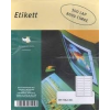 No-name Etikett leporellós 107×36,1mm 2 pályás 8000címke/doboz/500lap/doboz