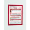 DURABLE Információs tábla -4872/03- mágneses, öntap. hátlap A4 Piros DURAFRAME