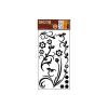 No-name Vinyl szobadekor matrica kis virág és inda fekete WA-006 69x32cm