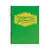 """Pukka pad Spirálfüzet, A4, kockás, 100 lap, PUKKA PAD """"Jotta Neon"""", zöld"""