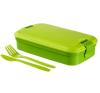 """CURVER Ételtartó, evőeszközzel, CURVER """"Lunch&Go"""", zöld edény"""
