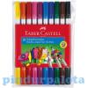 Kétvégű színes kimosható filctoll 10db-os szett Faber-Castell