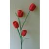 Padlóvázába !! 4 virágos tulipán 110 cm narancs