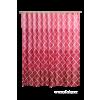 DEDRA Zuhanyfüggöny piros-rózsaszín
