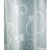 Fehér voila kész függöny fehér ezüst mintával/0016/Cikksz:01150788