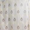 Organza sable, világos drapp kész függöny barna mintával/0016/Cikksz:01310256