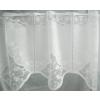 Fehér jaquard kész vitrage függöny, bordűrös/015/Cikksz:01310160