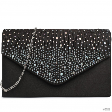 Miss Lulu London LY1682 - Miss Lulu Structupirosgyémánt pöttyded Envelope Táska Clutch táska fekete