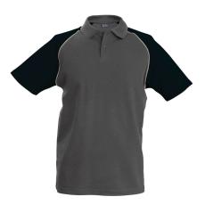 KARIBAN galléros póló, szürke/fekete