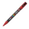 Dekormarker UNI POSCA PC-3M 0.9-1.3 mm, kúpos, PIROS