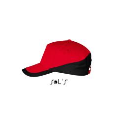 Sol\\\'s Sol´s sapka, 5 paneles, U, piros/fekete (Sol´s sapka, 5 paneles, U, piros/fekete)