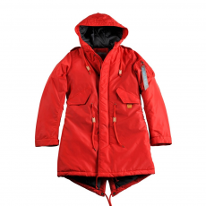 Alpha Industries Fishtail CW TT Női - speed red