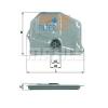 MAHLE ORIGINAL (KNECHT) MAHLE ORIGINAL HX45 hidraulikaszűrő