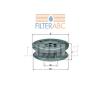 MAHLE ORIGINAL (KNECHT) MAHLE ORIGINAL HX44 hidraulikaszűrő