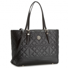 Tommy Hilfiger Táska TOMMY HILFIGER - Honey Med Tote Quilted AW0AW03414 002