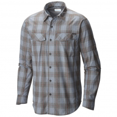 Columbia Silver Ridge Plaid Long Sleeve Shirt Ing D (1441321-p_415-Steel Heathered)