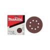 Makita Excenter papírok 125 mm piros 50db/csomag, szemcseméret: 40-240