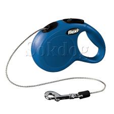 Flexi Classic zsinóros póráz XS, 3m, kék nyakörv, póráz, hám kutyáknak