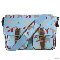 L1107DG - Miss Lulu London Oilcloth táska Scottie Dog kék