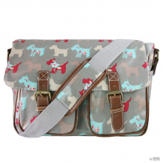 L1107DG - Miss Lulu London Oilcloth táska Scottie Dog szürke