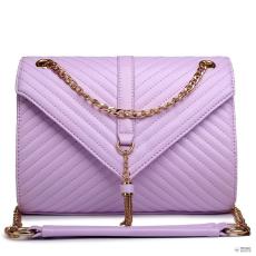E1635 - Miss Lulu London Quilted Lánc válltáska táska világos lila