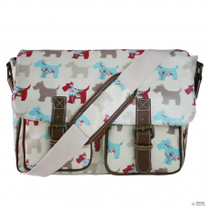 L1107DG - Miss Lulu London Oilcloth táska Scottie Dog