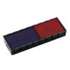 """COLOP Bélyegző cserepárna, 2 db/bliszter, kétszínű változat, COLOP """"E/12/2"""", kék-piros"""