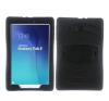 Samsung Galaxy Tab E 9.6 Ütésálló Tok Kitámasztható Duty Series RMPACK 2in1 Műanyag-Szilikon Fekete tablet tok
