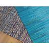 Beliani Kék szőnyeg - 140x200 cm - Pamut - MERSIN