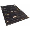 Beliani Fekete bőr szőnyeg - barna - arany - 80x150 cm - ARTVIN