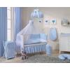 Prémium függöny a babaszobába - Kék pöttyös