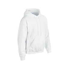 GILDAN bélelt kapucnis pulóver, fehér