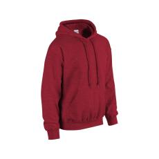 GILDAN bélelt kapucnis pulóver, antikolt cseresznye