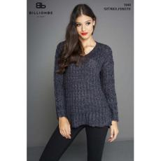 BILLIONBE by bebe 5048A Szürke-fekete pulóver bebe/2be