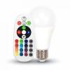 V-tac E27 RGB+W LED 6W (=40W) infra távirányítóval VT-2022 / SKU-7121