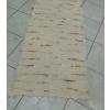 Barna beszövéses világosbarna rongyszőnyeg 75x190cm/Cikksz:0510539