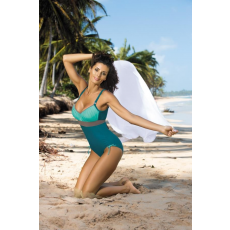 marko Egyrészes fürdőruha Whitney Turquoise-Martinicia-Fango M-253 zöld