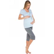 italian-fashion Kismama pizsama női Felicita 3/4 kék