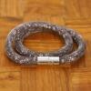 Yiwu Chanfar Jewelry Factory Duplasoros, mágneses, hálós kristály karkötő - szürke