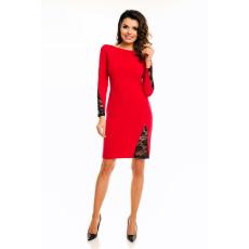 awama Csipkés női ruha A128 piros