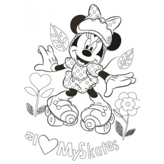 Disney koszulki do malowania MINNIE t-shirt to paint 7-8 years ColT-S 01618