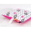 Prémium Minky párna - Pink esernyős elefánt