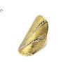 Vésett és matt bicolor arany gyűrű