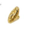 Áttört bicolor hosszúkás arany gyűrű