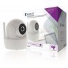 König 720p felbontású, pásztázható, dönthető Wi-Fi kamera SAS-CLALARM rendszerekkel, ABS, fehér SAS-CLALIPC10