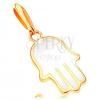 585 arany medál - Fatima keze fehér fénymázzal