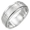 Minőségi acél gyűrű - forgatható rész, rombusz mintázat